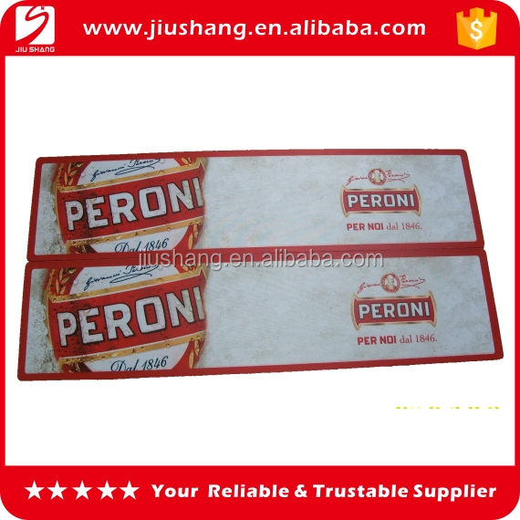 Patron bar mat thin rubber bar service mat for water absorption
