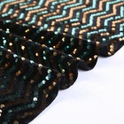 Velvet 5mm sequin hand dress making embroidery fabric beaded for evening bags