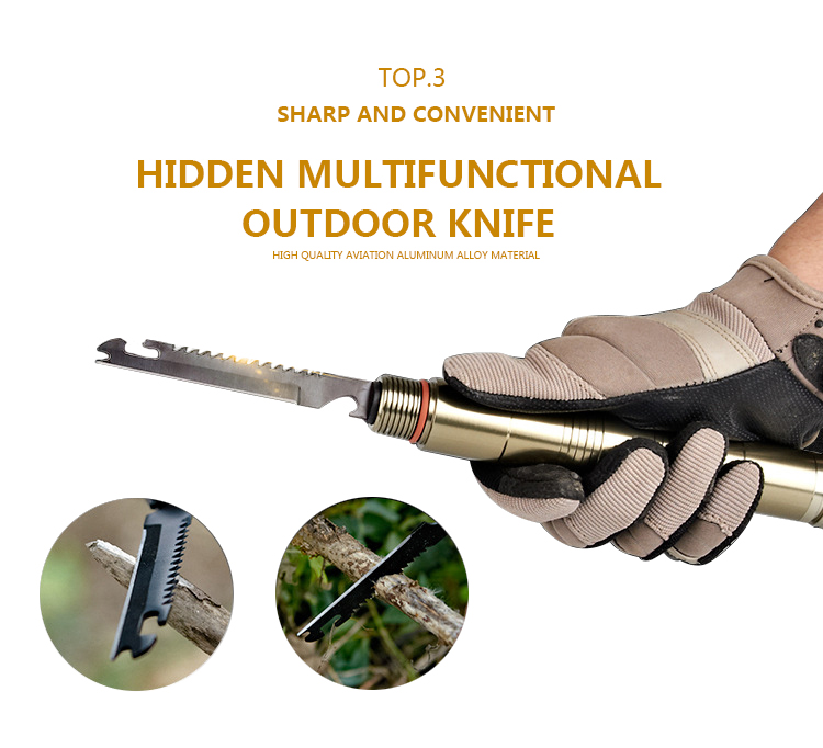 Folding Portable Camping Walking Self-defense Tool Tactical Stick