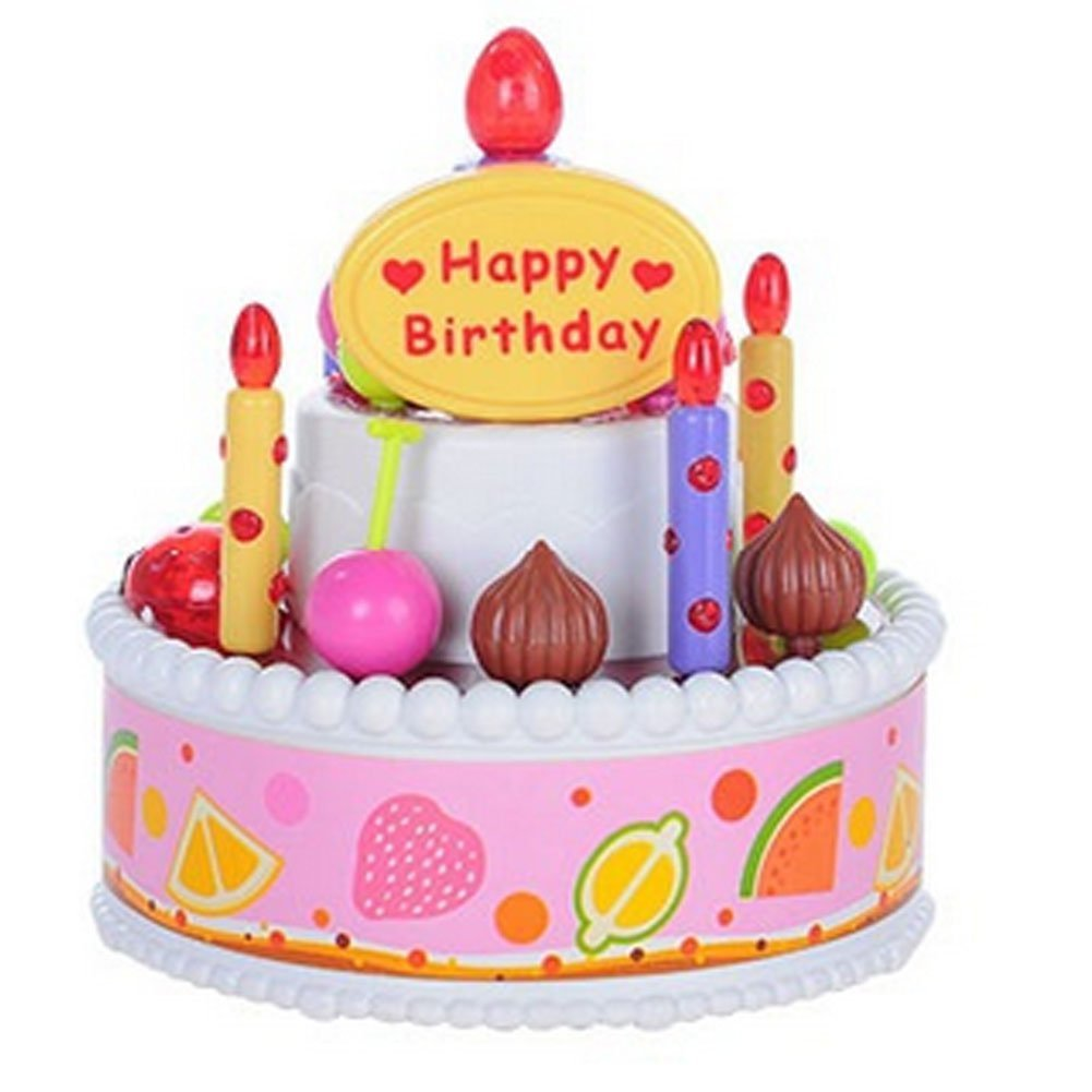 Get Quotations Children Play Toys Birthday Cake Will Sing The Song To Blow Out Candles And