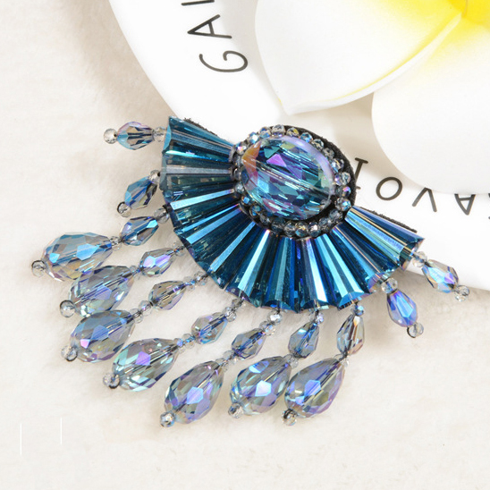 Hair Ornaments Accessories China Shoes Accessories Crystal Beaded Flower For Shoe Decoration