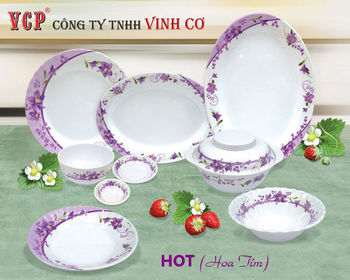 Hoa Tim melamine dinnerware Vietnam high quality products proudly made in VietNam : purple melamine dinnerware - pezcame.com