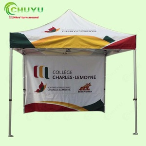 Factory Whole Gazebo Double Printing Full Side Wall Automatic Folding Tents