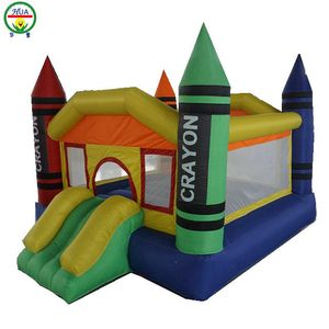 Pen Shape Inflatable Bouncer Oxford Material Castle