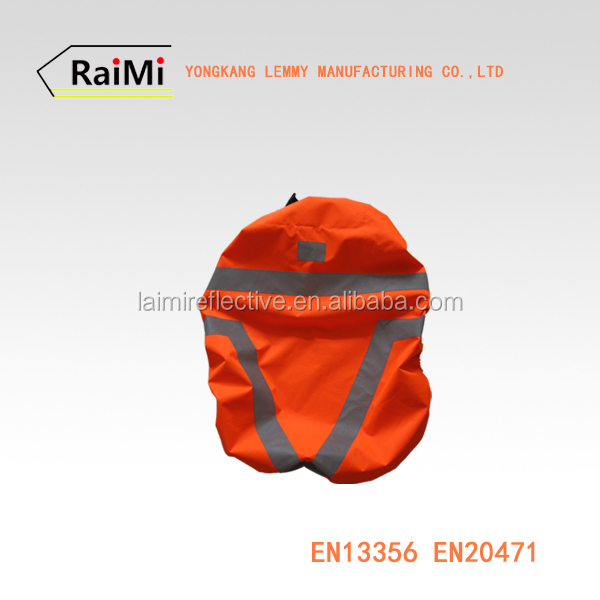 High Visibility Drawstring Backpack Reflective Waterproof Cycling Backpack Rain Cover