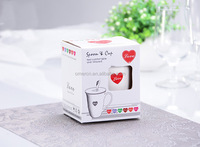 fine bone china coffee mugs/cups with lids heart designs/gift box coffee mugs