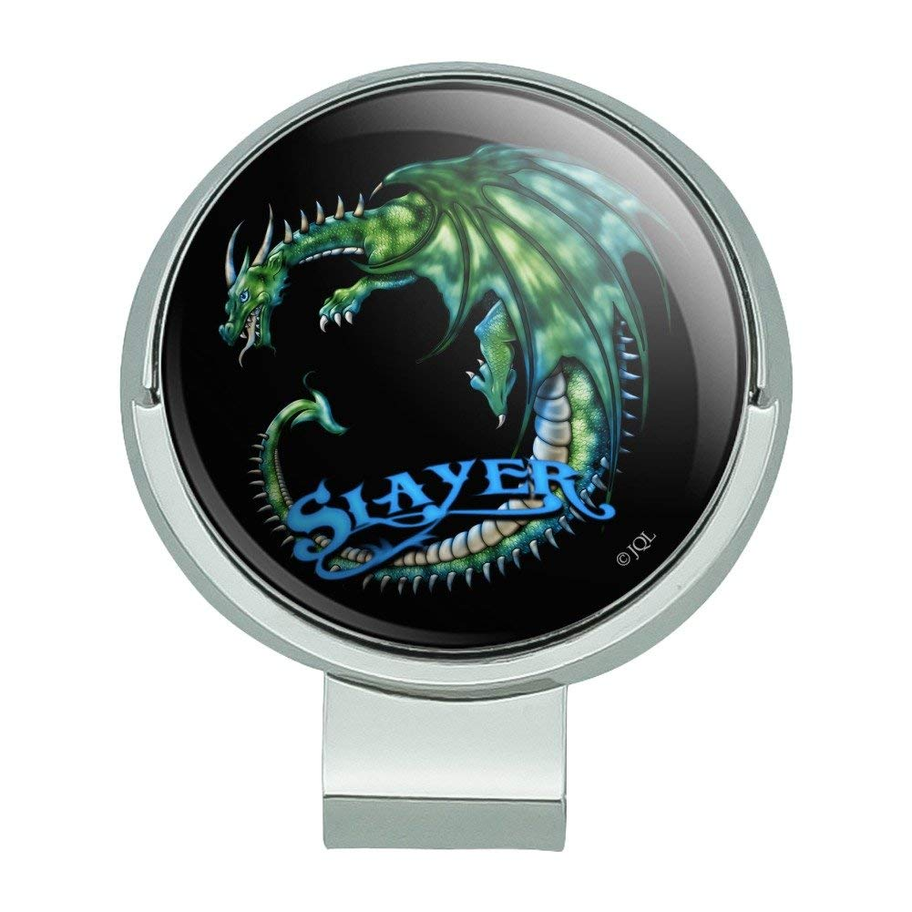 Graphics and More Dragon Slayer Fantasy Gaming Golf Hat Clip With Magnetic Ball Marker