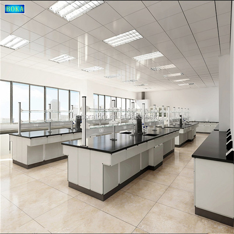 Advanced equipment and latest technology chemistry/physical/biologic lab table/bench with movable cabinet and reagent shelf