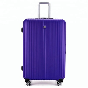 high quality purple elegant abs hardside trolley luggage on wheel