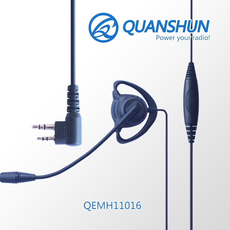 Call Center D Shape Hands Free Walkie Talkie Earpiece Combine Ptt Mic Buy Hands Free Microphone Headset Product On Alibaba Com
