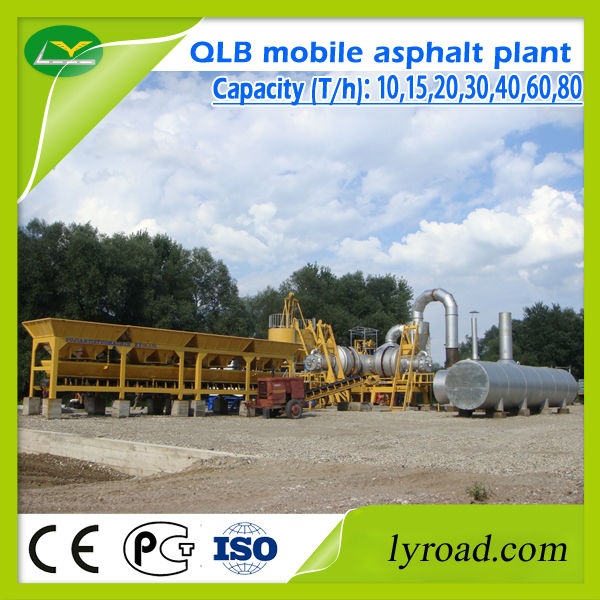 China Supplier Qlb Mobile Asphalt Concrete Mix Plant With Twin ...