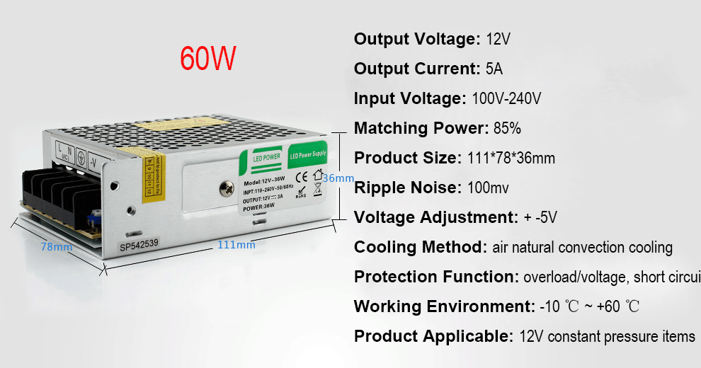 Switching Power Supply 5v 12v 15v 24v 12v 5a 8a 12a Switching Power Supply  Cctv 12v Switching Power Supply 12v - Buy Power Supply,Switching Power