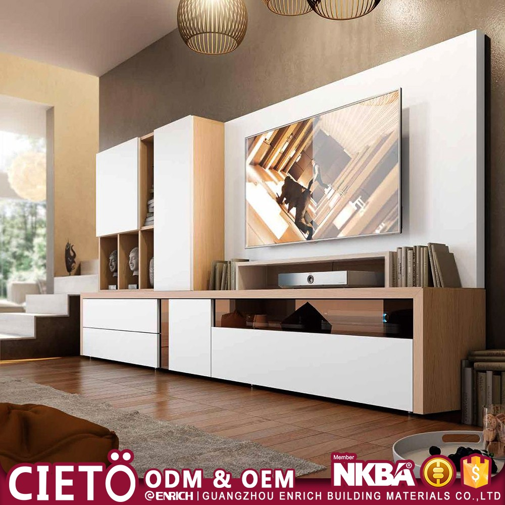 Perfect Melamine Partical Board Modern Tv Hall Cabinet With Showcase Living Room  Furniture Designs Part 32