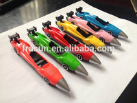Funny creative design kids play ballpoint pen racing car shape pen
