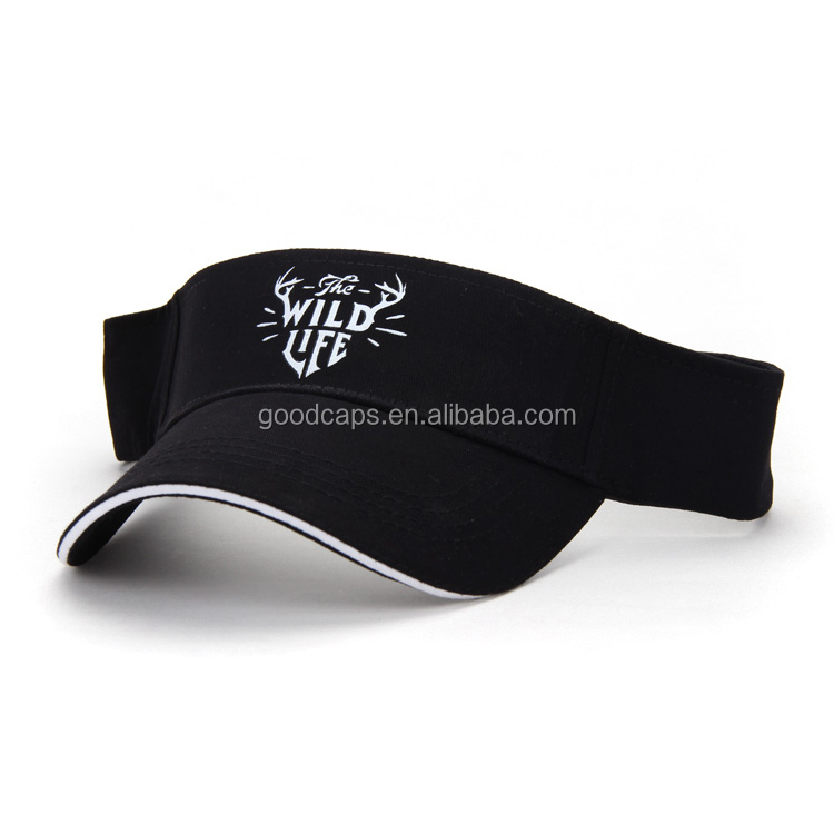 custom printing logo baseball caps and hats cotton sandwich golf sun visor hats