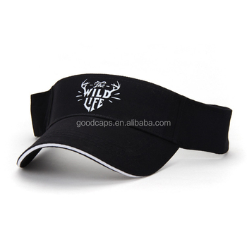custom printing logo baseball caps and hats cotton sandwich golf sun visor  hats 3d70c60ea3d