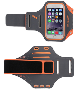 Wholesale fashion design sports running fitness 5.5 inches mobilephone waterproof armlet wrist arm pocket arm bag