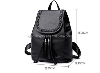 9bce3e1bd2 Online Shopping School Bags Female Casual Backpack · Soft Leather New  Tassel Cheap Women PU Student Travel Leisure Backpack