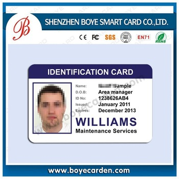 China Manufacturer Staff Id Card Design School Student Id Card