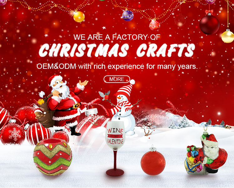 Glass Christmas outdoor decoration bells hand-printed Jingle bell