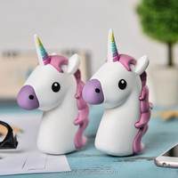 Cheap best popular Emoji unicorn power bank phone Charger 2600mah for all Cell Phones