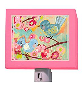 "Oopsy Daisy Cherry Blossom Birdies Night Light, Pink, 5"" x 4"""