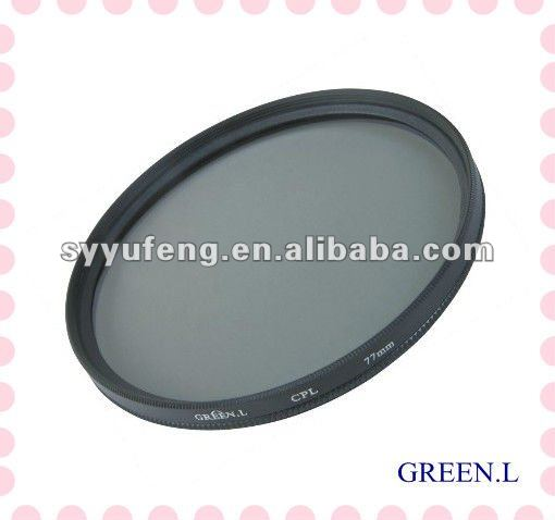 Green.L 77mm camera cpl filter circle polarizer filter