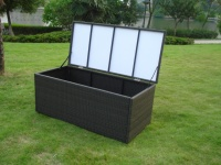 Rattan outdoor garden storage unit