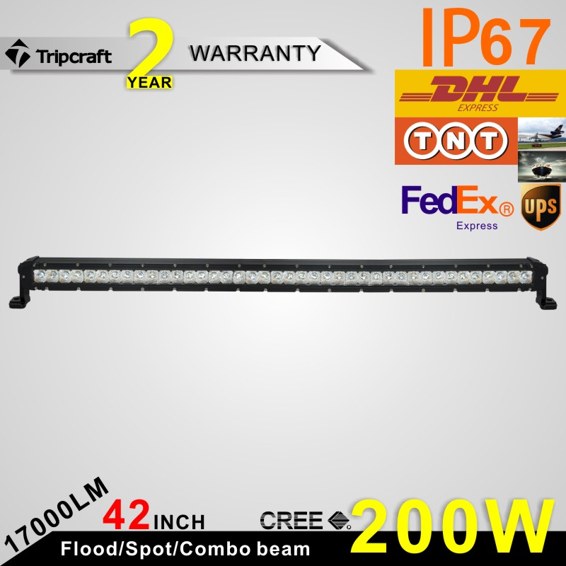 Car LED Lighting Bars single Row 200W c ree offroad 4x4 led light bar for truck