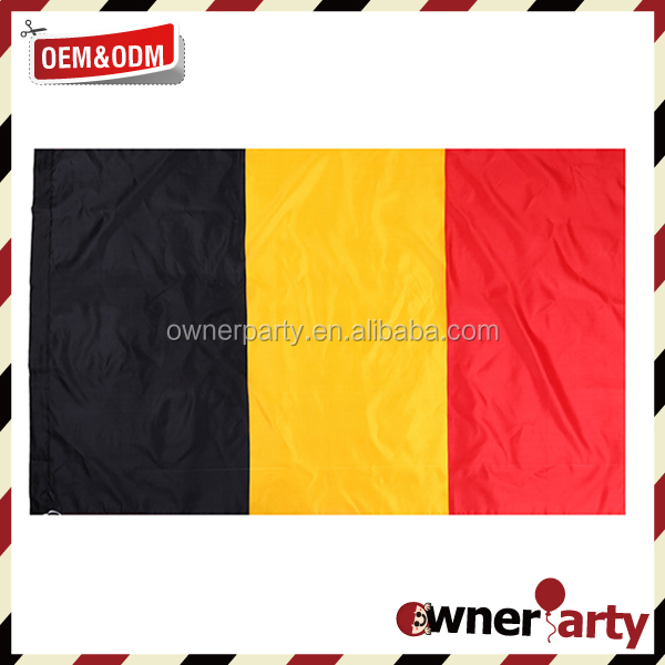 Wholesale 2016 EU Cup 100% Polyester Printing 3x5ft Country Belgium Flag