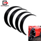 Universal Black 4 Pcs Fender Flares Arch Wheel Eyebrow Protector/mudguards Sticker Car Fender Flares