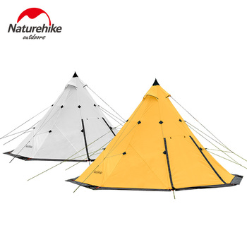 Naturehike TIPI Double Layers Waterproof Aluminum Alloy Pole Outdoor Camping Tent Family 3-4 Man tipi bell tent