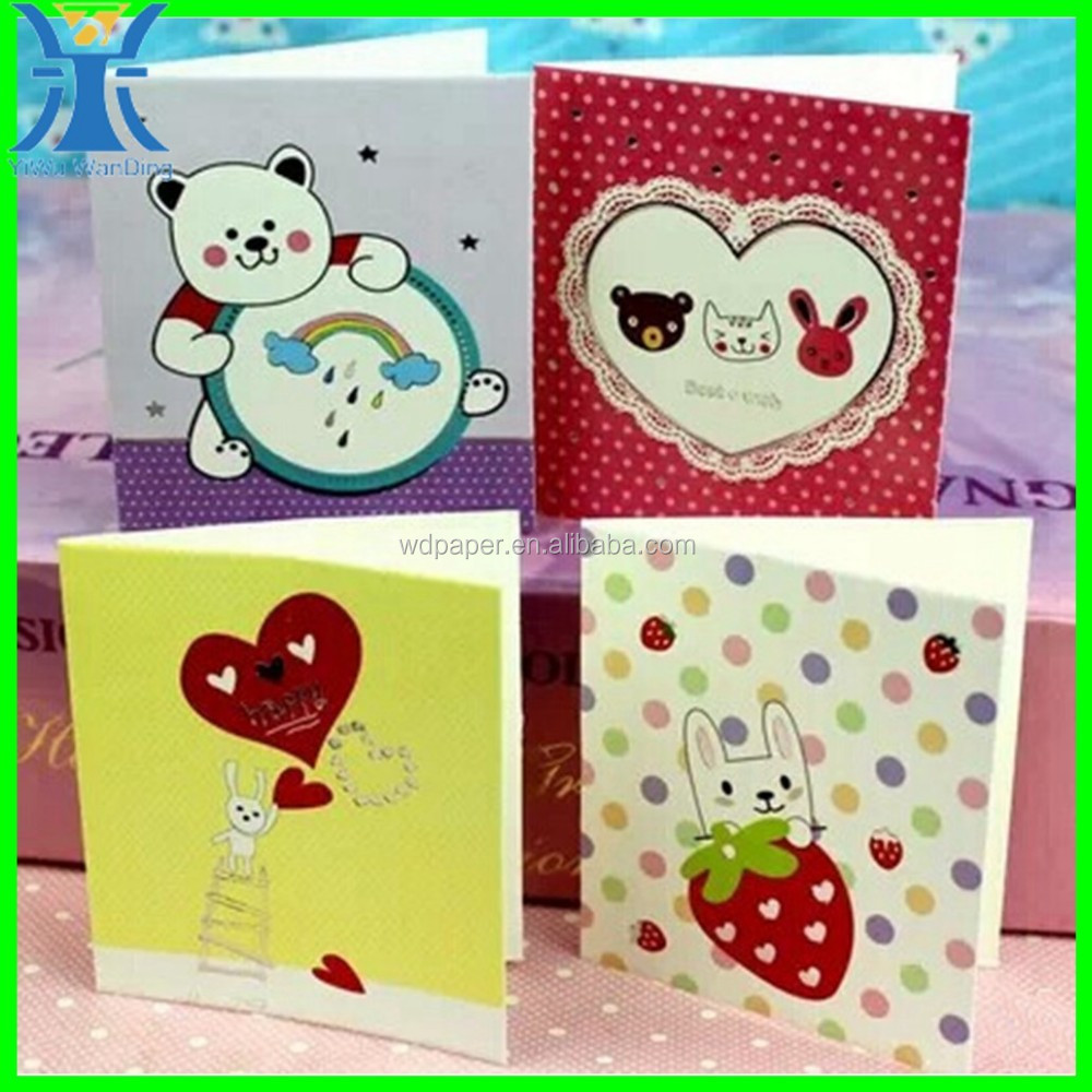 China manufacturing attractive handmade paper folding greeting card