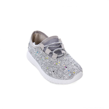 8ac385a041d3 Lace Up Monogram Elastic Tongue Wholesale Glitter Sneakers Tennis Shoes