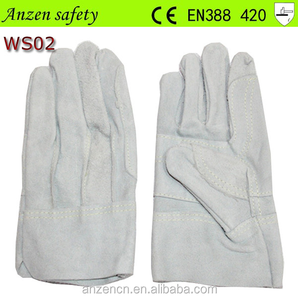 clean white cow finished leather gloves