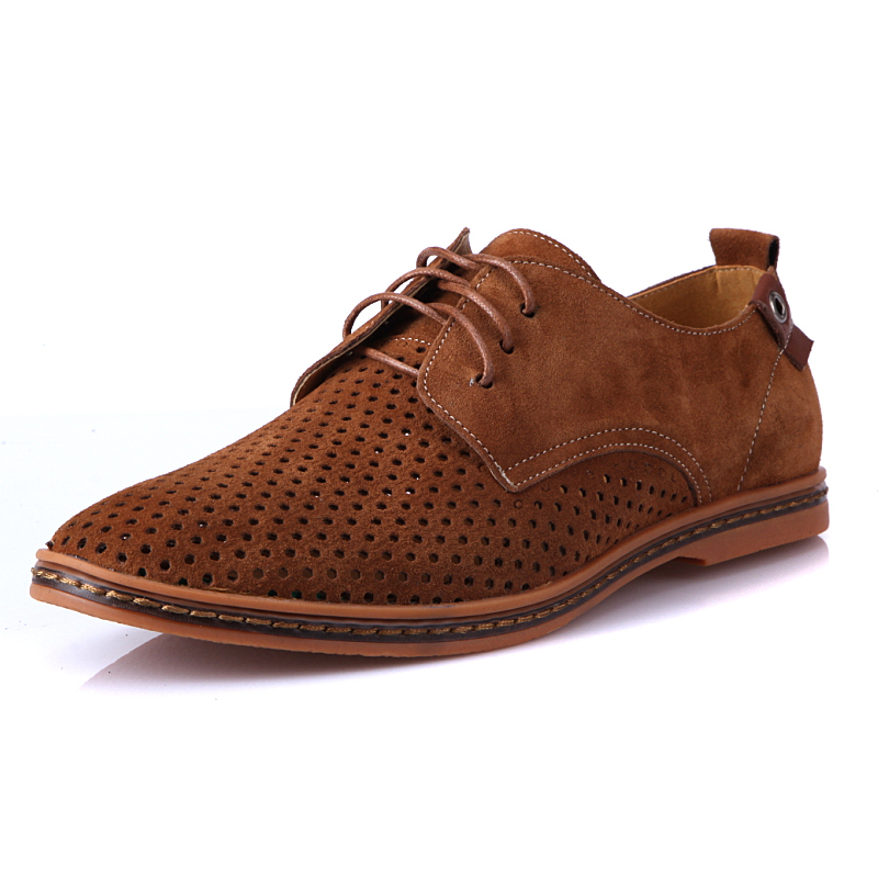 Large Size Oxfords Shoes for Men 7 Colors Genuine Leather