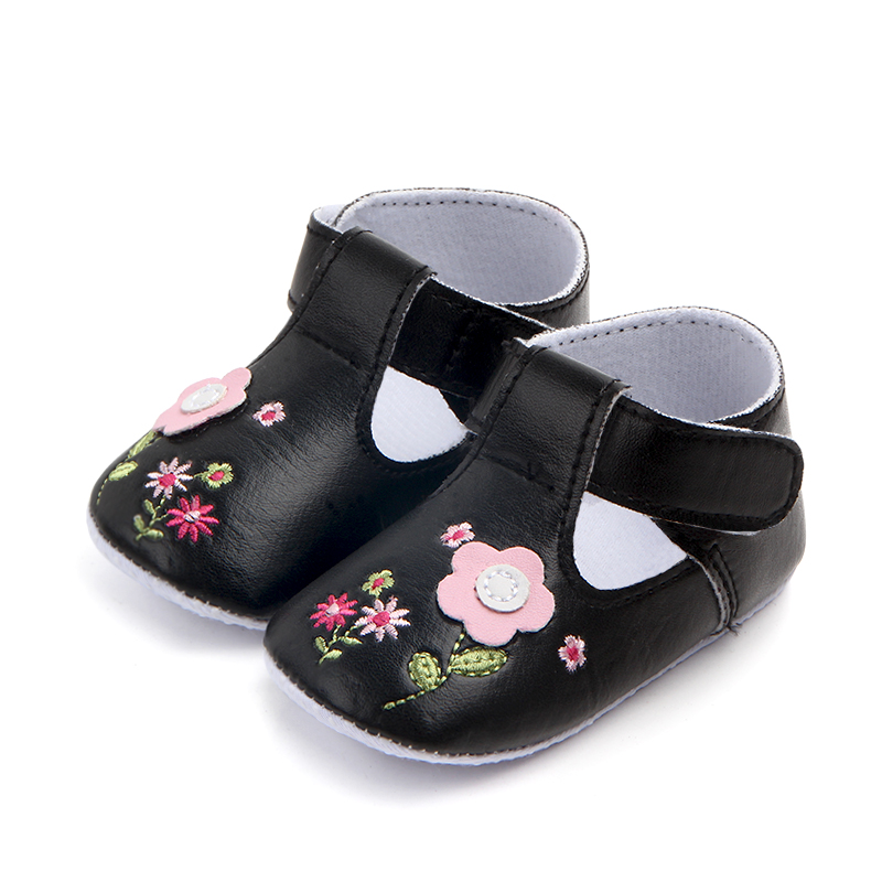 New PU Soft Sole Flower Soft Baby Girl Shoes 2017