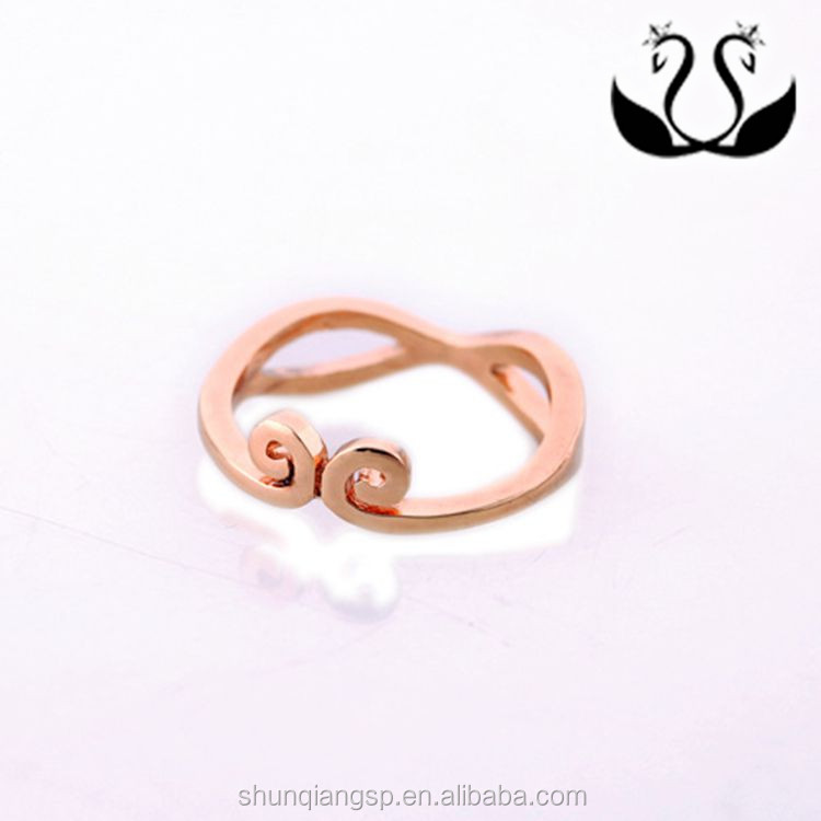 factory wholesales fashion inlaid zircon14K rose gold plated lovers hoop ring sets