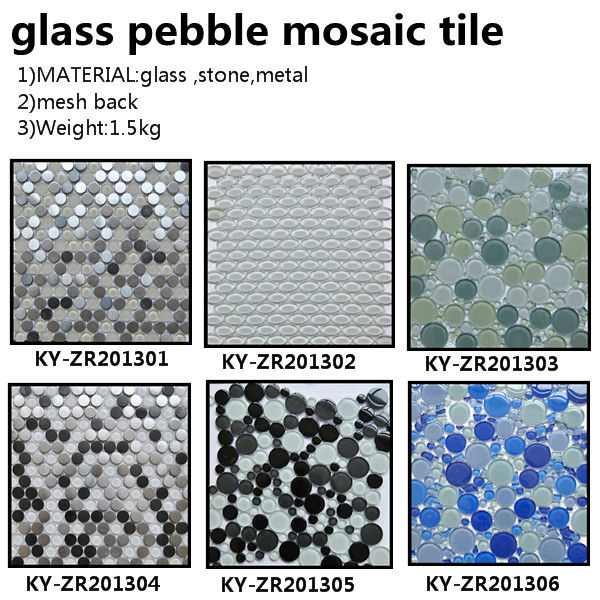 Shinning Round Mosaic Patterns Decorative Wall Mirror Gl Tile