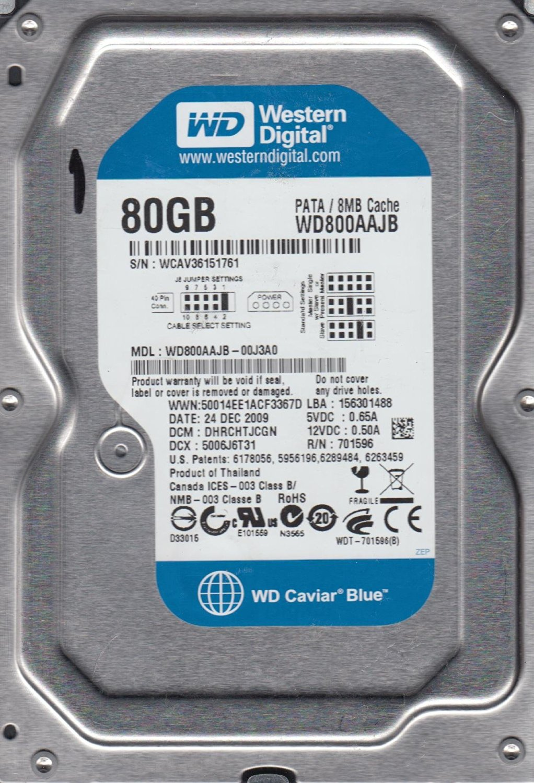 Western Digital WD800BB 80GB 7200RPM 2MB CACHE IDE OEM 3.5 Inch Desktop Hard Drive