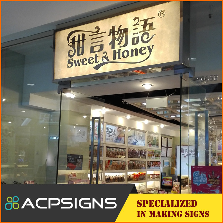 Frontlit acrylic signage led light channel letter and logo sign advertisement light boxes