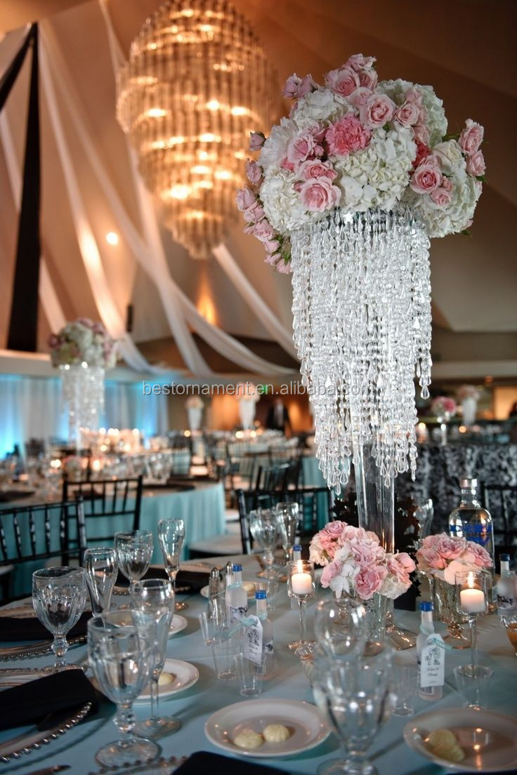 Wholesale wedding crystal table centerpiece stands buy for Buy wedding centerpieces