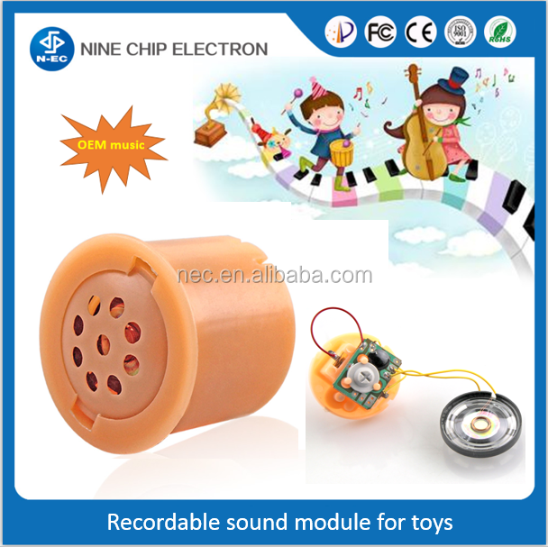 Voice recognition push button sound module for stuffed animal / toys