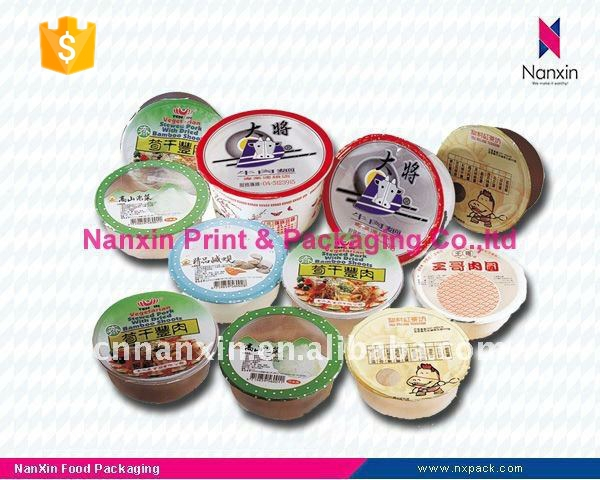 food packaging milk tea cup lid sealing film