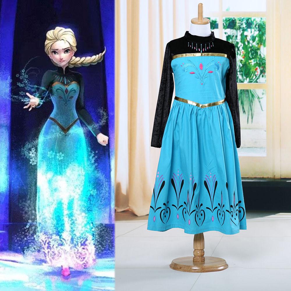 Movies Baby Girls Kids Clothes Spring Autumn Outwear font b Dress b font Long Sleeve Princess