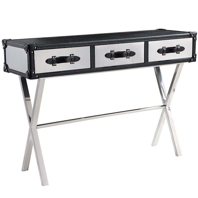 Trans Atlantic Steamer Trunk X Base Coffee Table