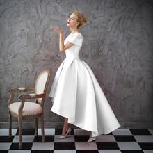 Женское вечернее платье Ladybeauty, короткое Кружевное платье с коротким рукавом и вышивкой, длинное платье для свадебной вечеринки, 2018(Китай)