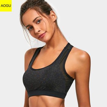 eae1fe25c Women yoga running tops comfortable sexy shiny mesh sexy sports bra ...