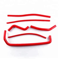 For 08-15 ATV CAN AM DS 450 DS450 Silicone Radiator Coolant Hose Kit Red 2008-2015