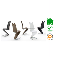 DC-2547 Modern Stylish Various Colour Options Chrome Z Shape Dining Chair with handle